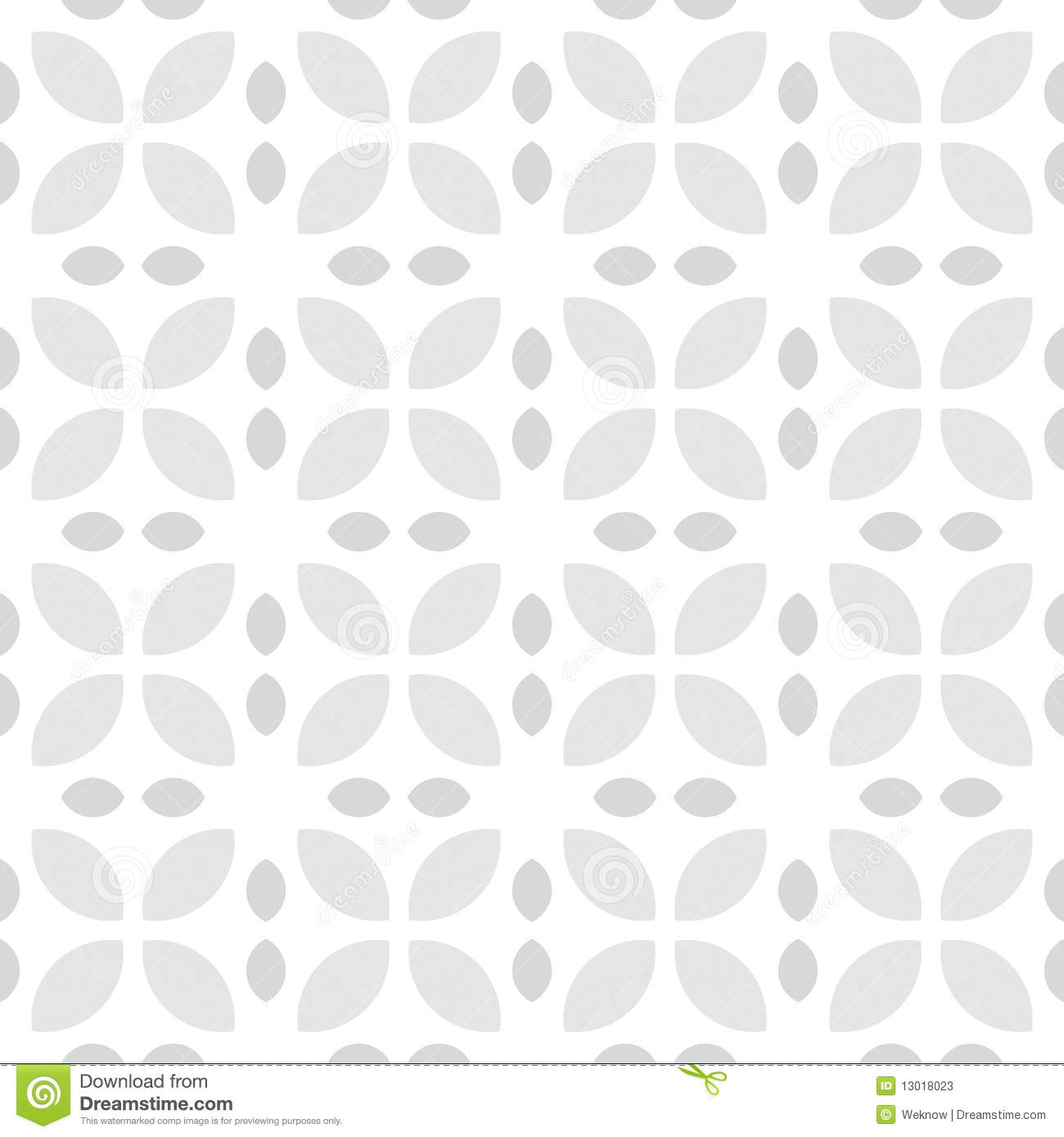 Grey And White Pattern Grey And White Retro Flower Pattern Stock Illustration