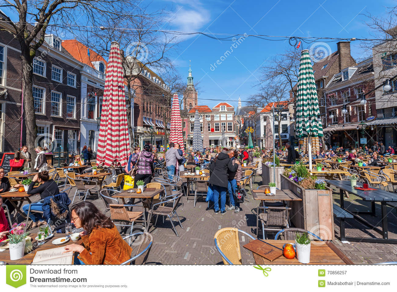 Den Haagse Markt Grote Markt In The Hague Netherlands Editorial Photography