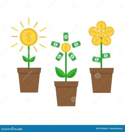 Shining Money Bag Icon. Dollar Sign. Flat Design Cartoon Vector | CartoonDealer.com #52496385
