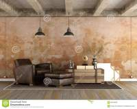 Grunge Living Room Stock Illustration