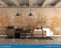 Grunge Living Room Stock Illustration