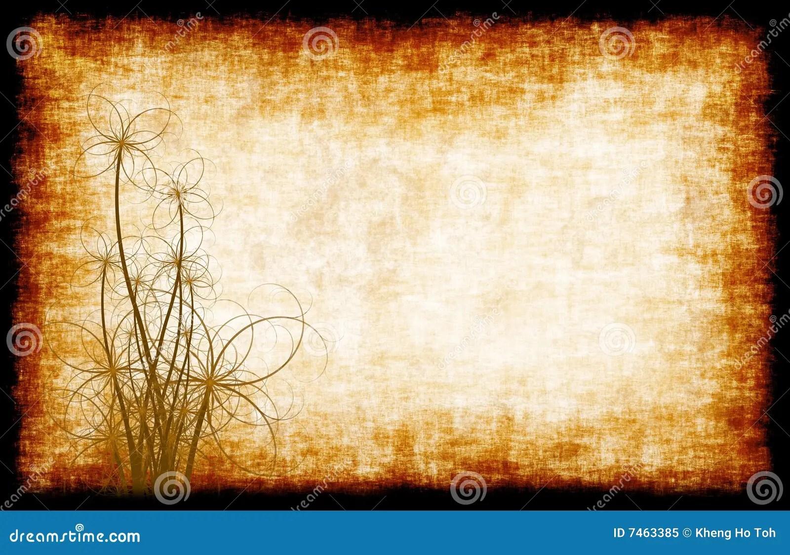 Black Textured Wallpaper Grunge Parchment Floral Stock Illustration Image Of Vine