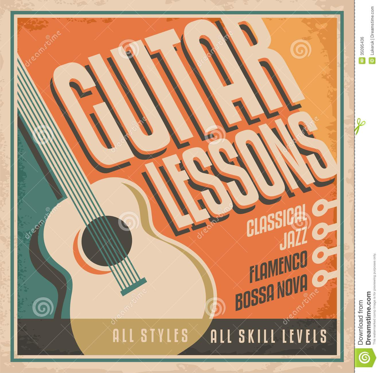 Poster design download -  Design Guitar Learning Lessons Play Poster Download