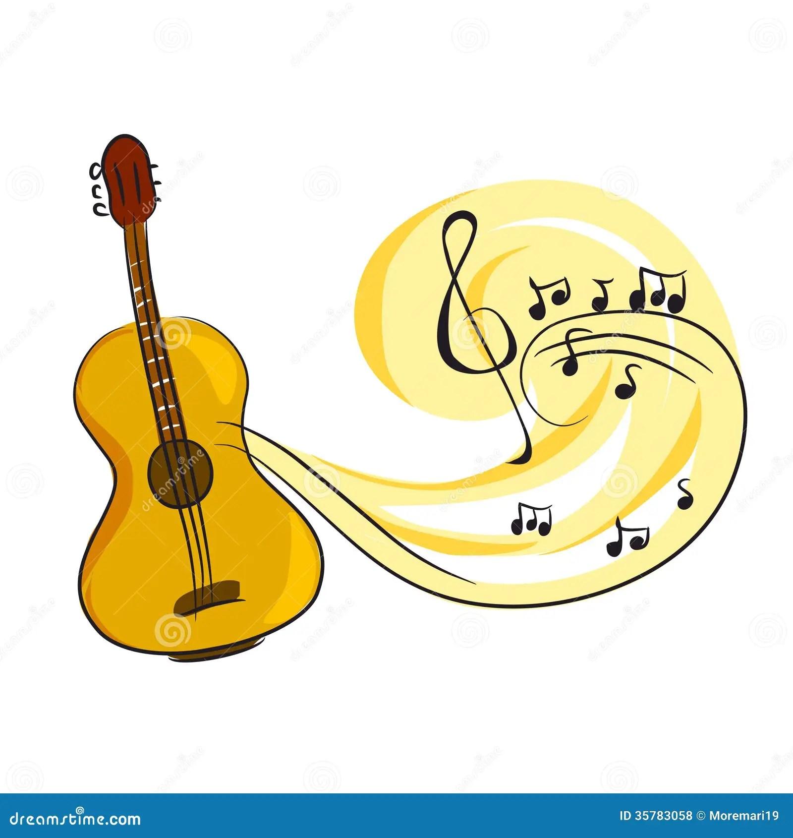 Music Quotes Wallpaper Guitar Guitare Avec Des Notes De Musique Photos Libres De Droits