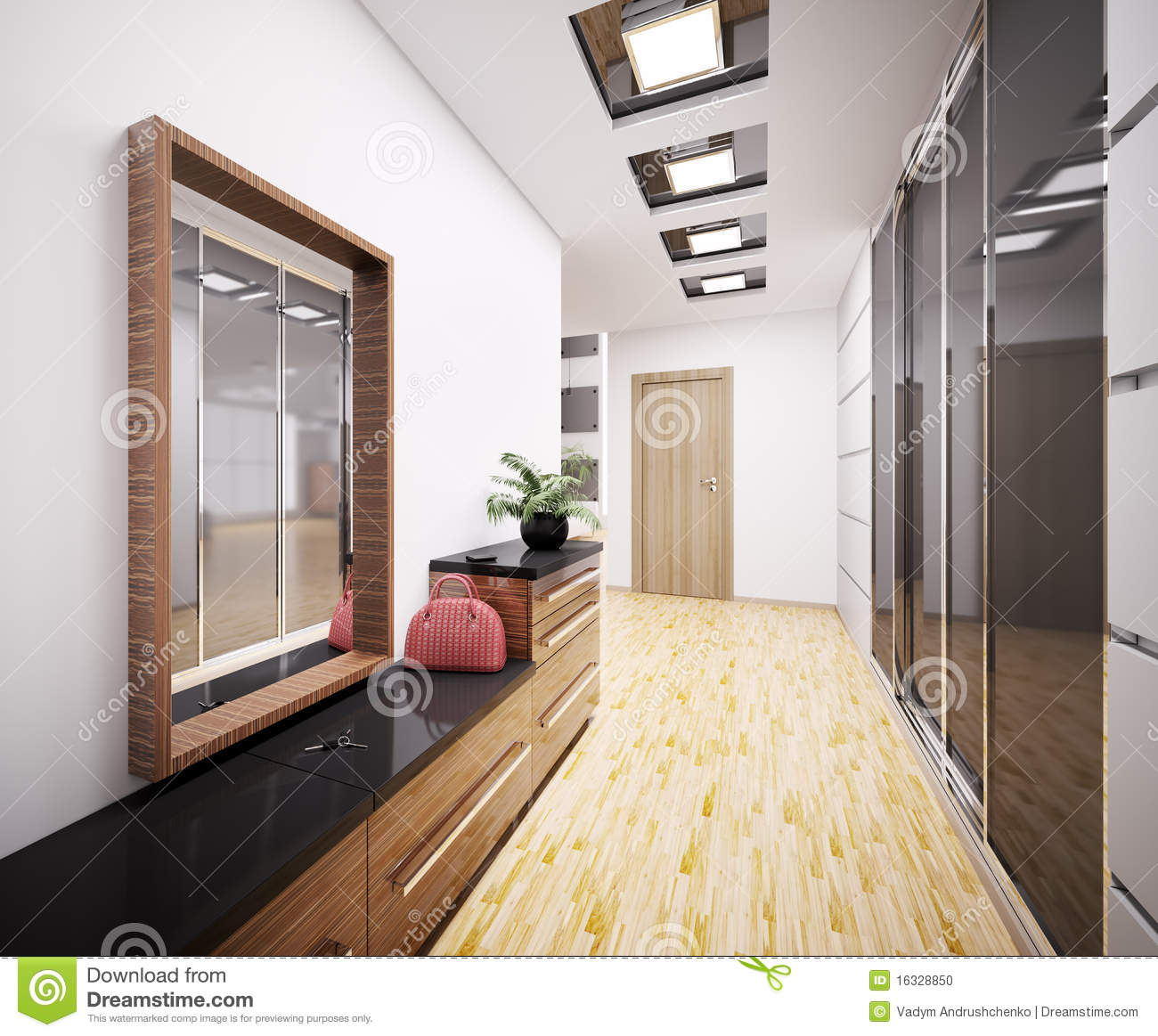 Decoration Hall D Entree Appartement Hall D 39entrée Moderne 3d Intérieur Photo Stock Image