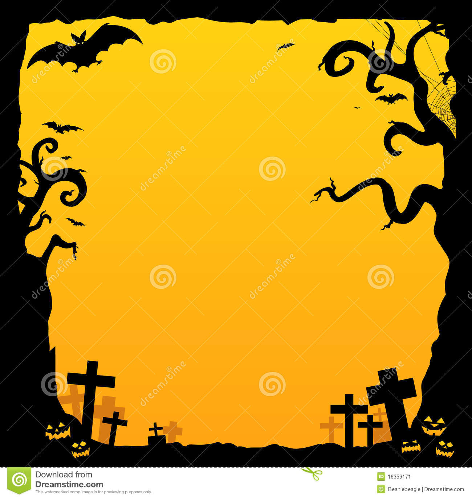 Fall Pumpkin Wallpaper Desktop Halloween Background Stock Vector Image Of Blank