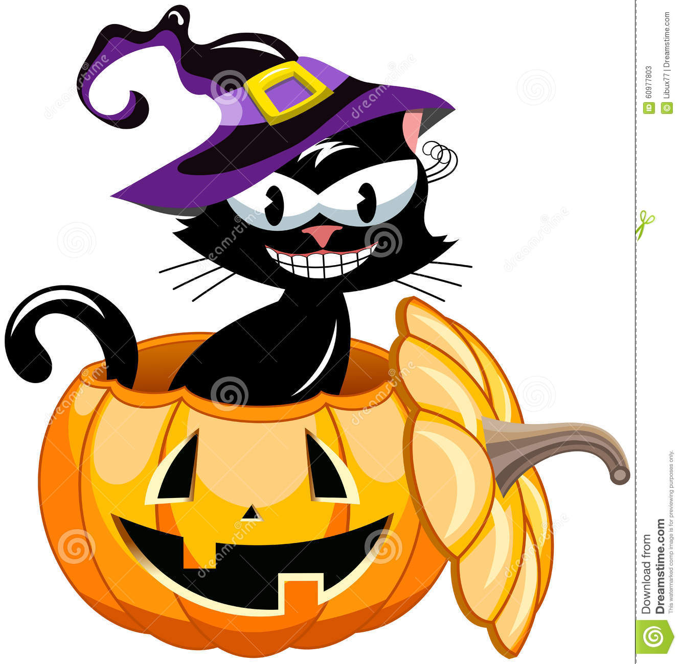 Halloween Witch Pictures Clip Art Auto Electrical Wiring Diagram Yale Mpb040 E Black Cat Inside Pumpkin Stock Vector