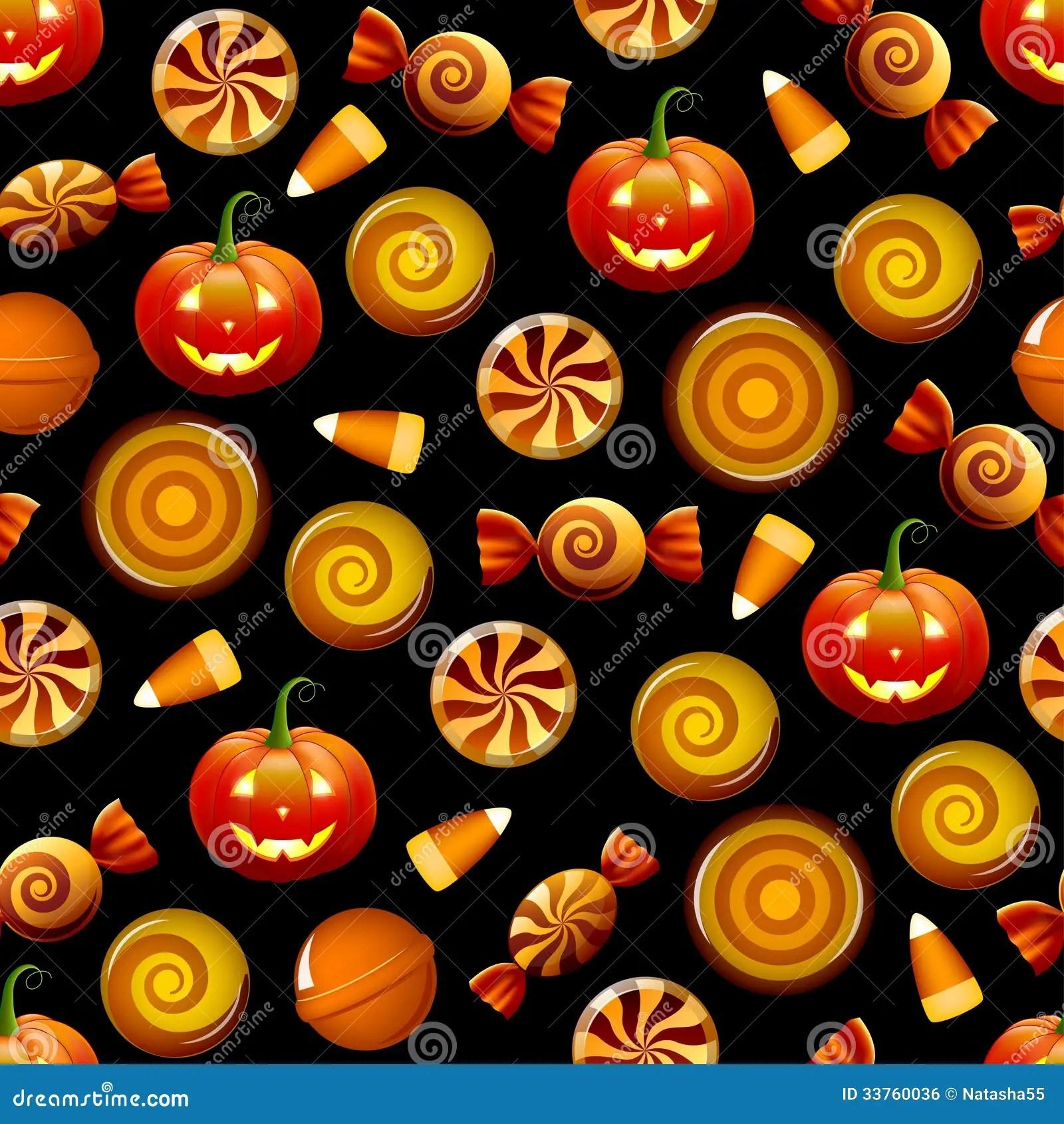 Free Fall Pumpkin Desktop Wallpaper Halloween Candy Seamless Pattern With Pumpkins Stock