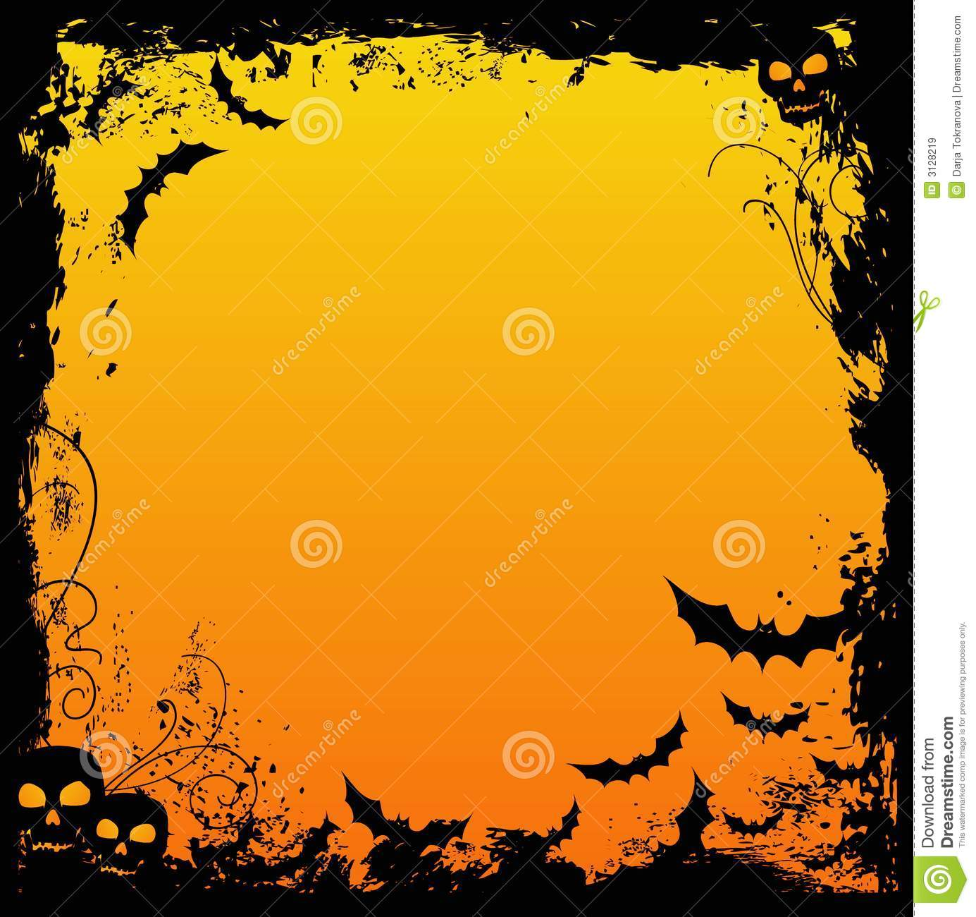 Creepy Fall Wallpaper Halloween Design Stock Vector Illustration Of Silhouette