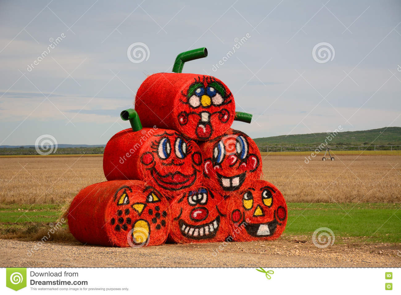 Hay Decoration Halloween Hay Bales Stock Image Image Of Decorations