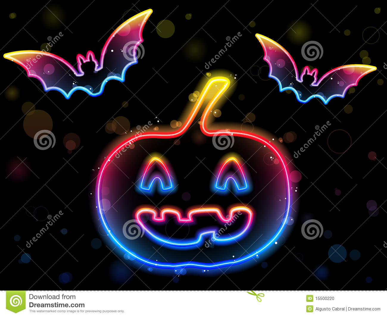Free Cute Fall Wallpaper Halloween Neon Background Stock Vector Image Of Fall