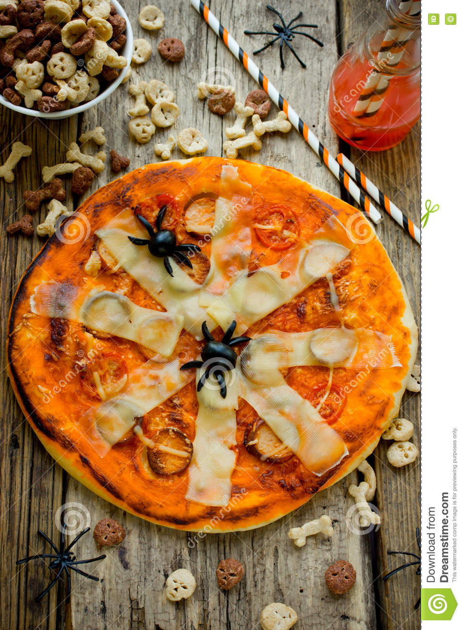 Decoration De Table Pour Halloween Halloween Pizza Treat For Halloween Party Holiday Decoration