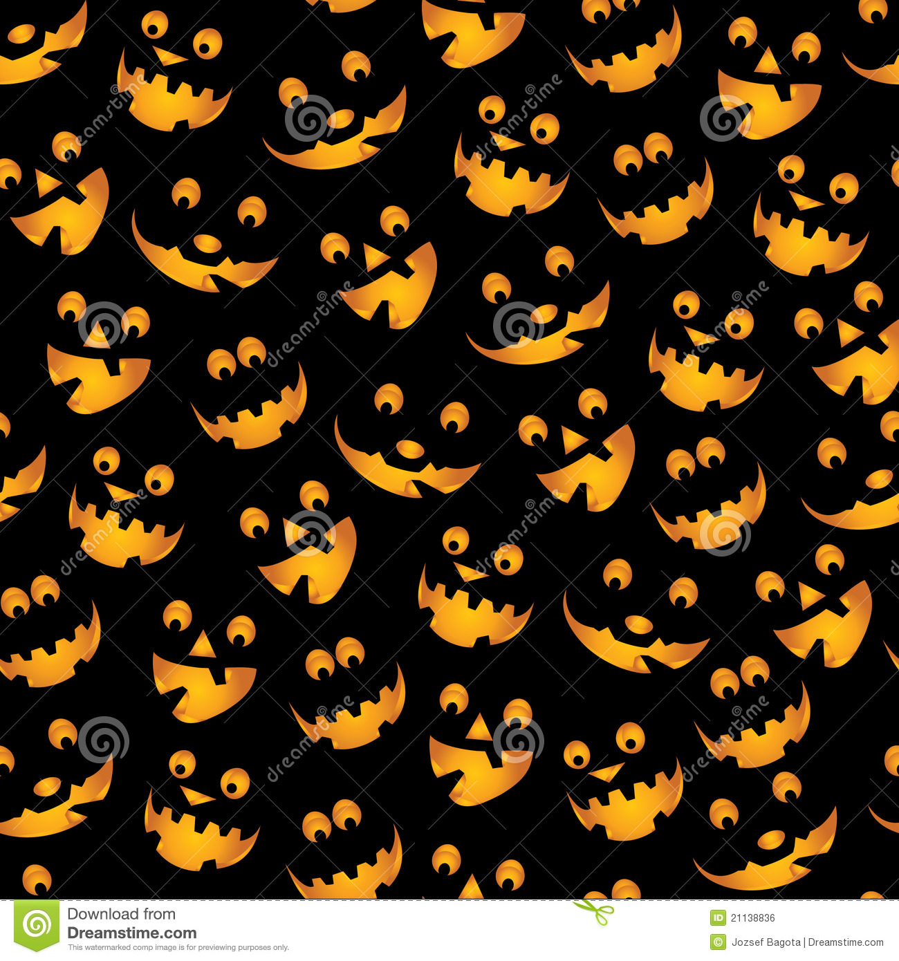 Free Cute Fall Wallpapers Halloween Pumpkins Background Stock Vector Image 21138836