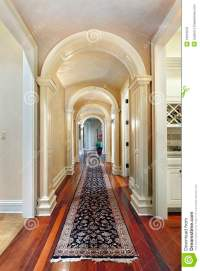 Hallway with curved arches stock image. Image of furniture ...