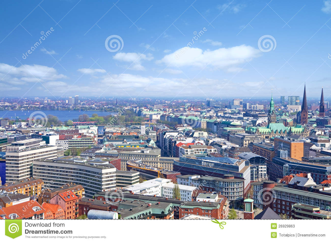 Hamburg Skyline Bild Hamburg Skyline Alster Archivbilder Abgabe Des Download