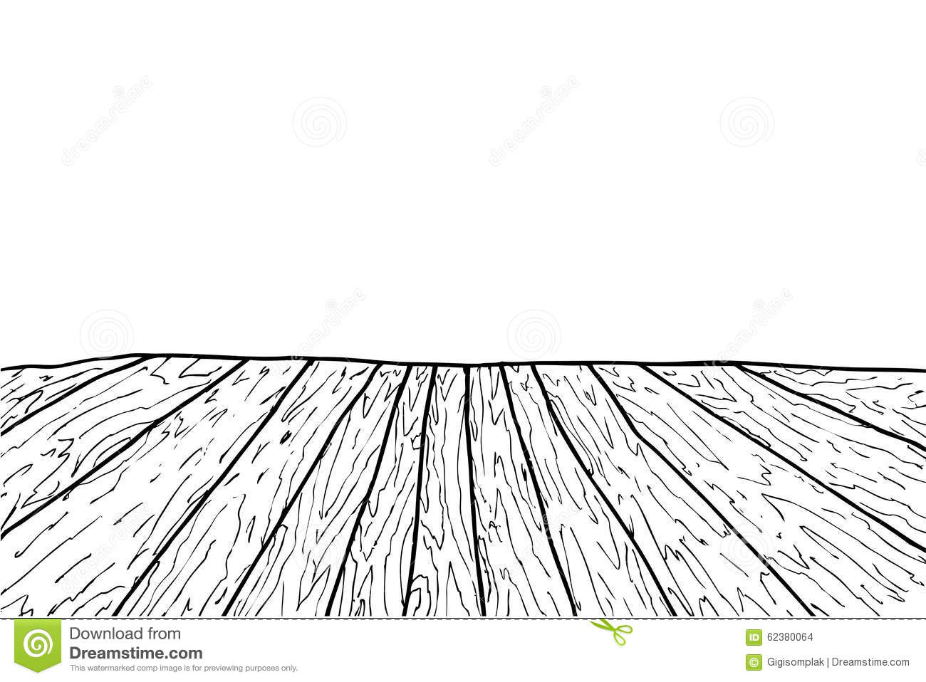 Dessin Parquet Bois Hand Draw Sketch Of Wooden Floor Stock Vector Image