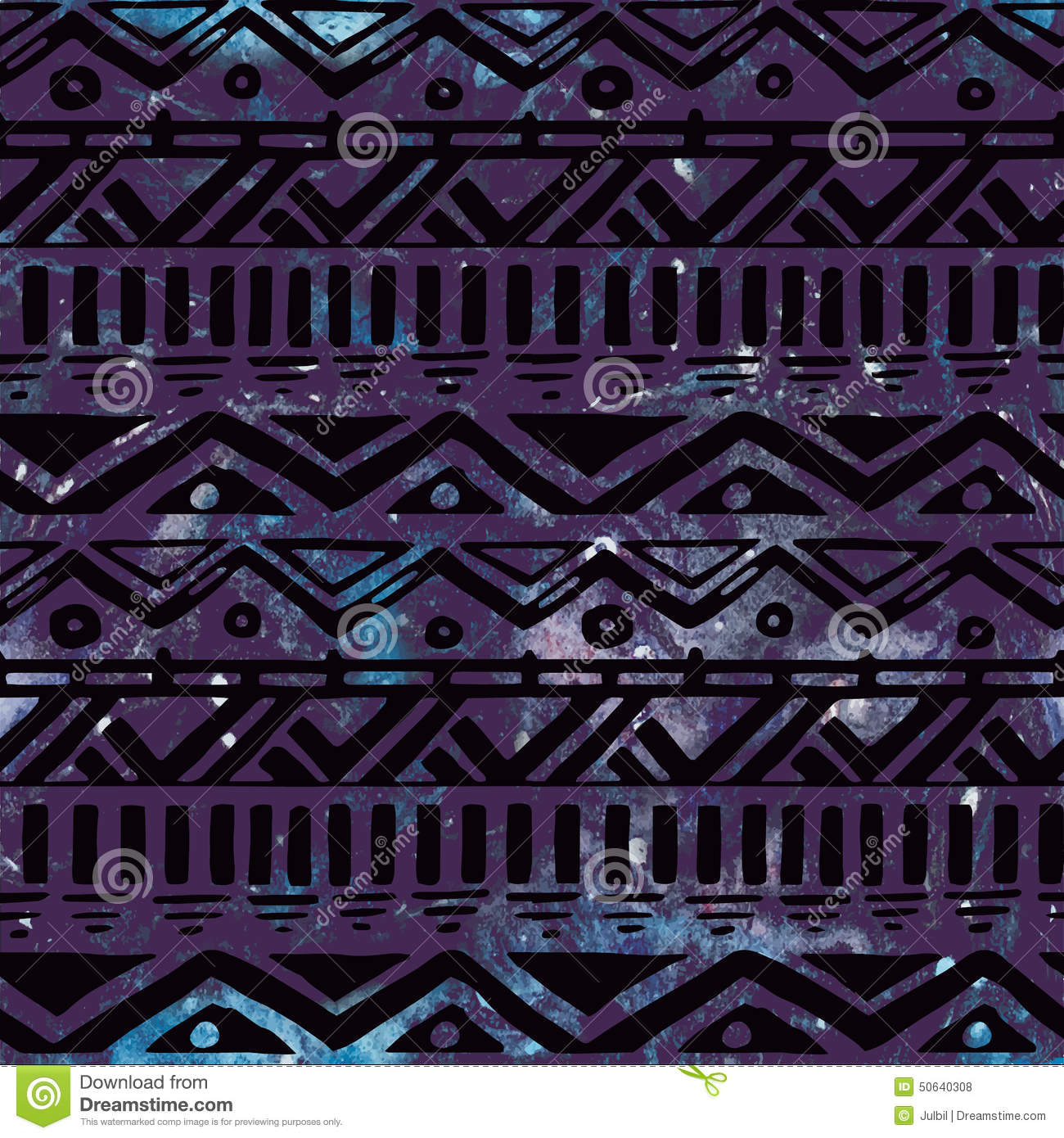Cute Trendy Wallpapers Hand Drawn Black Aztec Tribal Seamless Background Stock