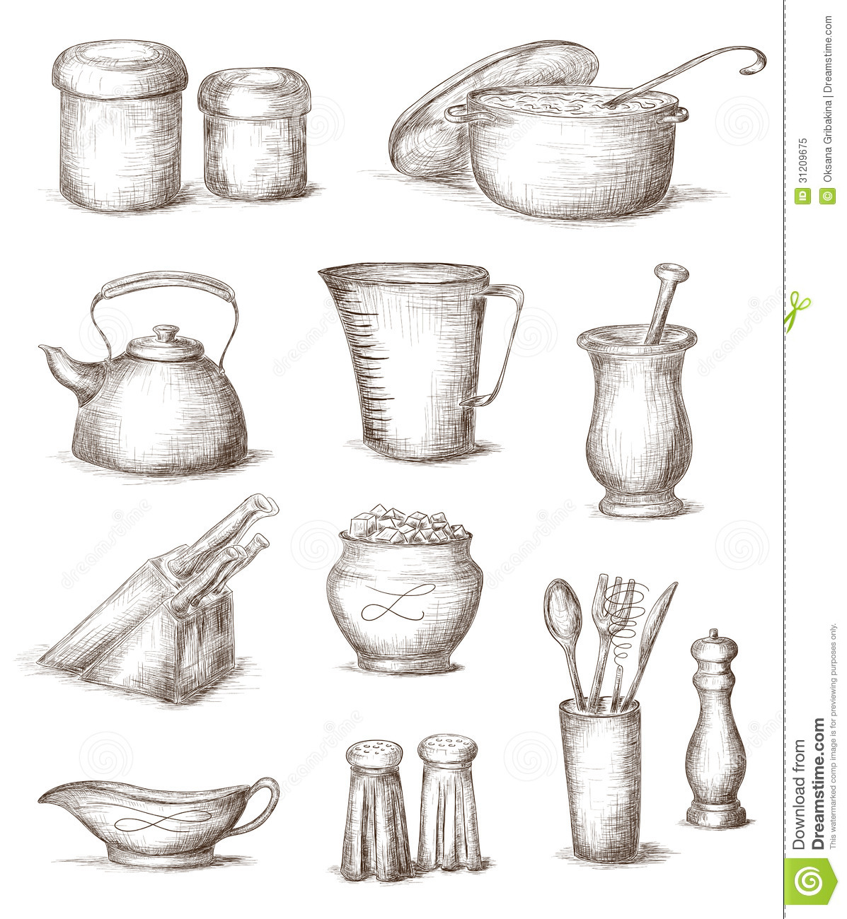 Kitchen Tools Drawings Kitchen Design Gallery Kitchen Utensil Names