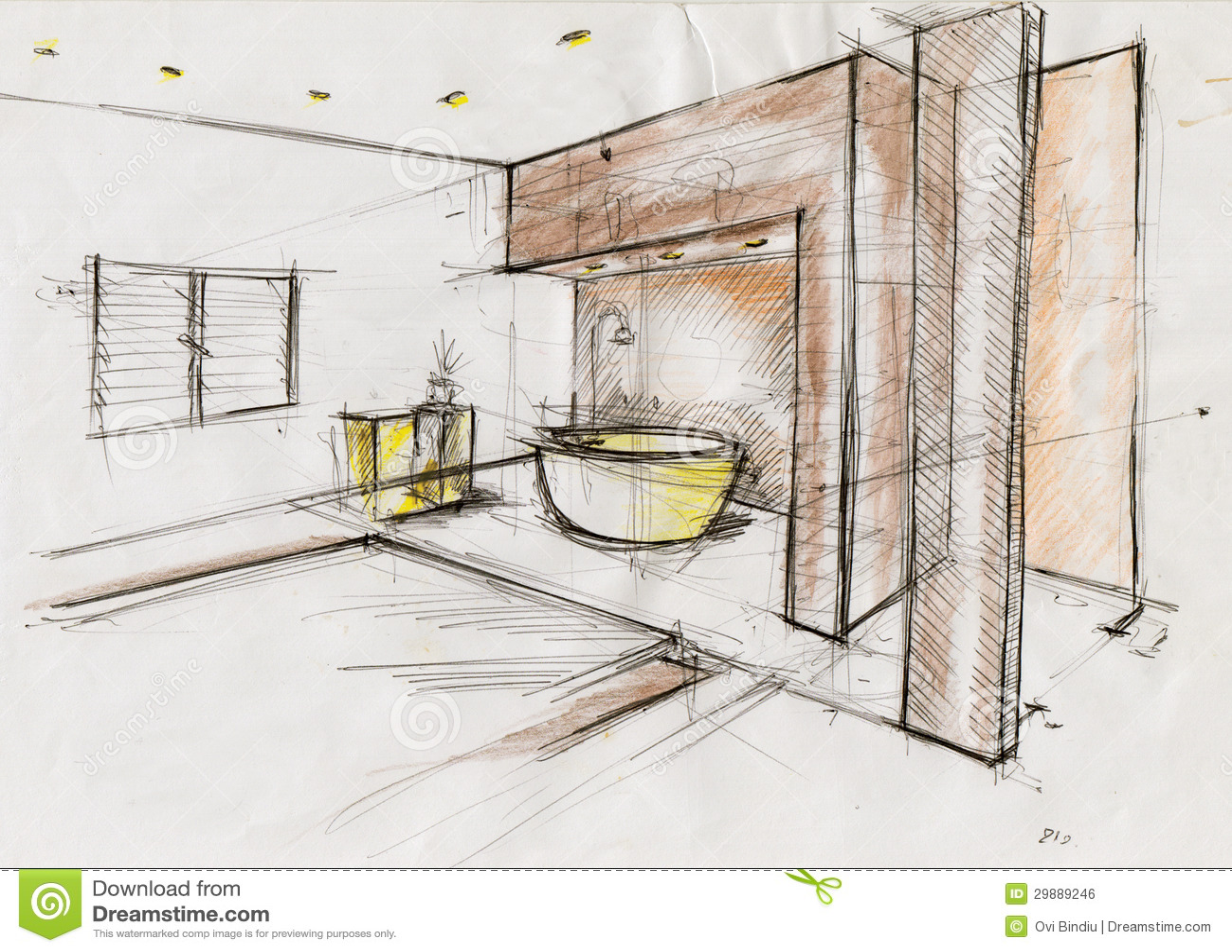 Interior Design Elevation Rendering Marker Free Home Design Ideas