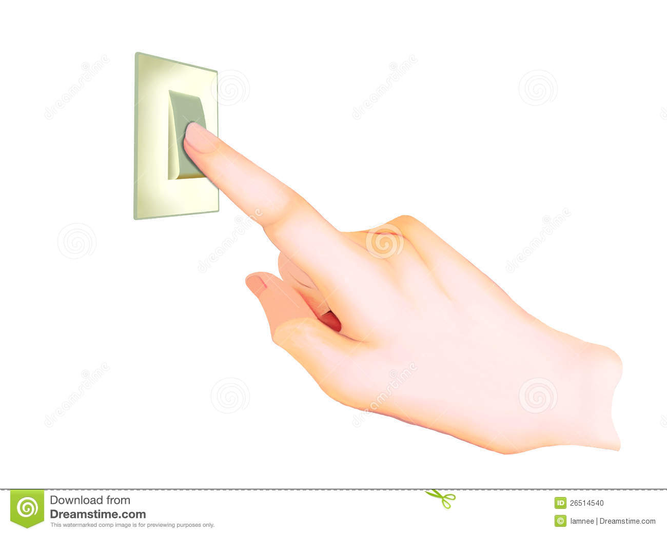Light Switch Off Clipart A Hand Turning On Off A Light Switch Stock Photo Image