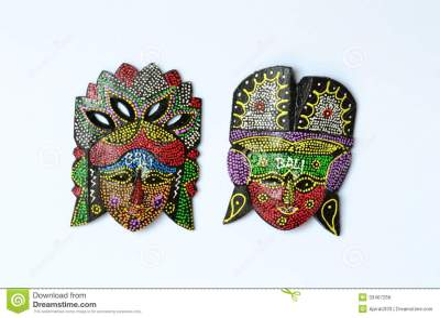 Handicraft Mask Souvenir From Bali Indonesia