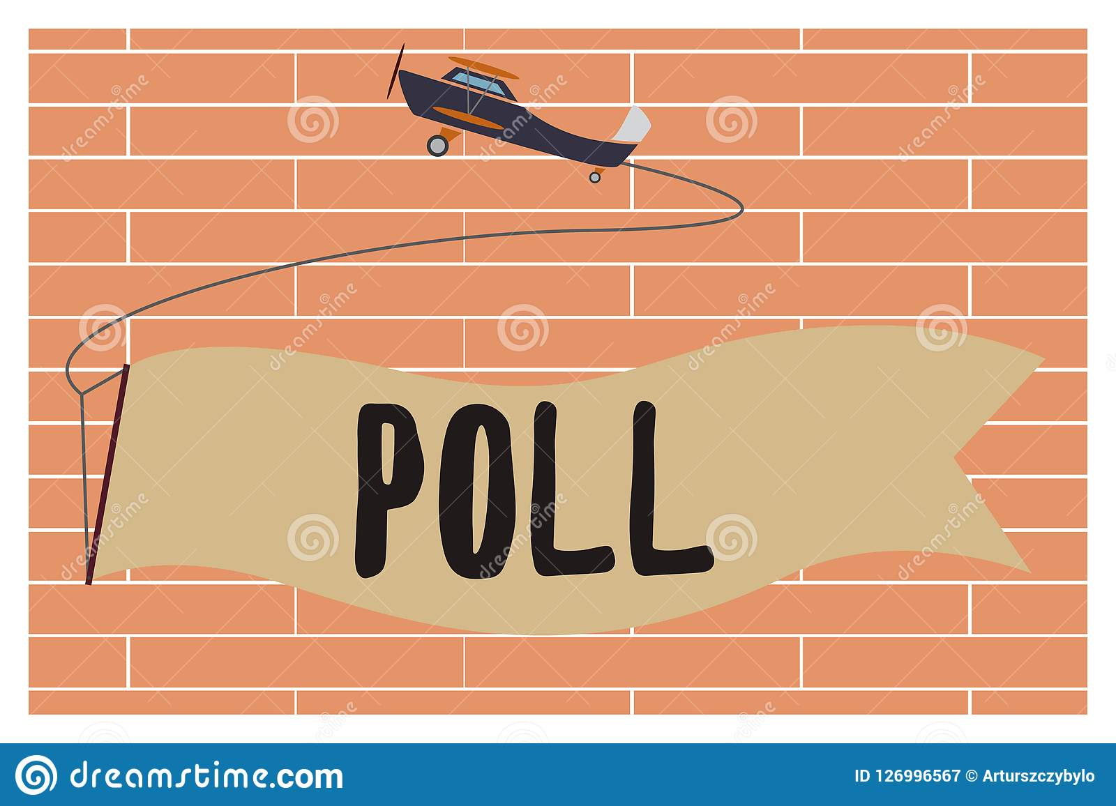 Election Poll Handwriting Text Writing Poll Concept Meaning Record Of The