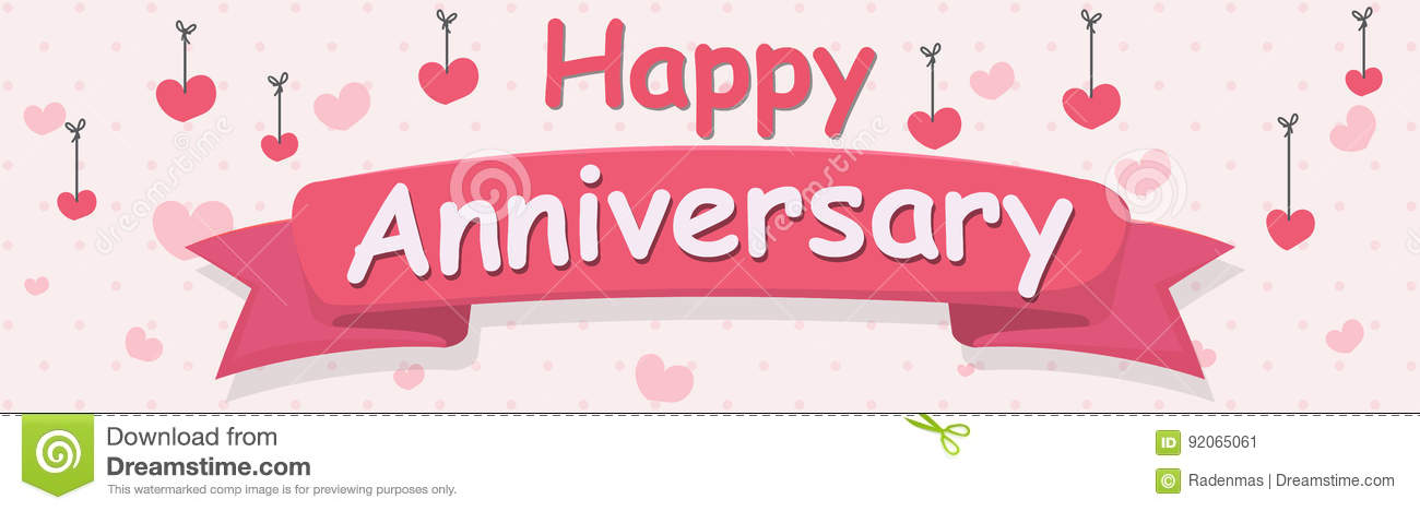 Happy Anniversary banner stock vector Illustration of party - 92065061