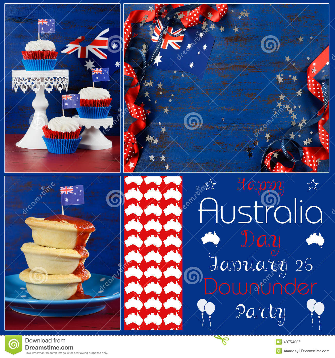 Collage Frames Australia Happy Australia Day Deisgner Pack Collage Stock