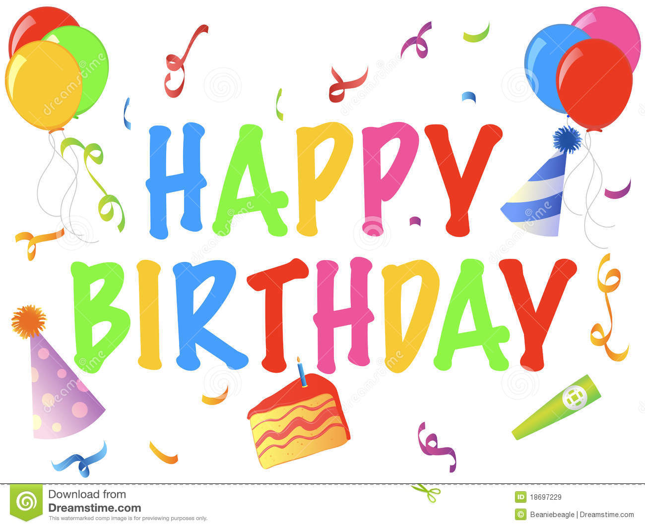 Royalty free stock photo download happy birthday banner