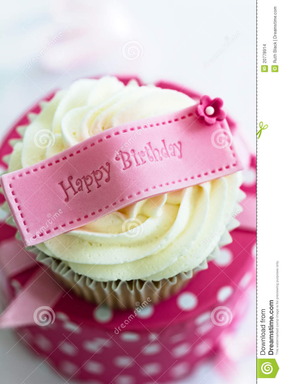 Mothers Day Hd Wallpaper Happy Birthday Cupcake Stock Photo Image Of Nobody