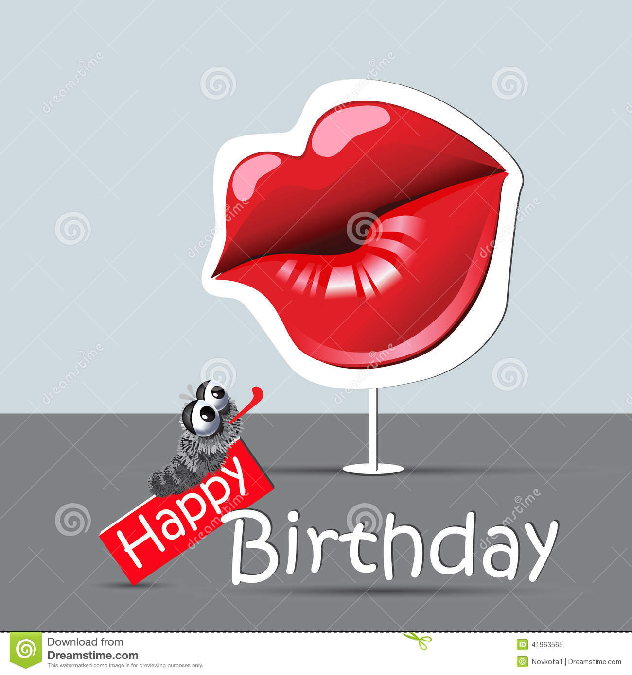 Kisses Wallpapers With Quotes Happy Birthday Funny Card Eyes And Smile Kiss Stock