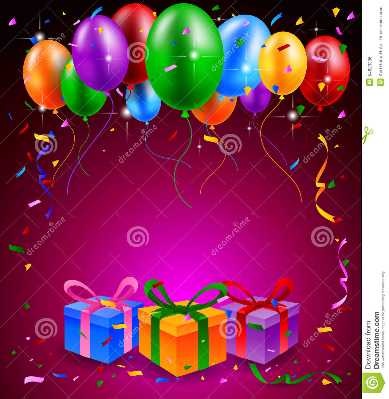 3d Fatima Name Wallpaper Happy Birthday Party With Balloons And Gift Background