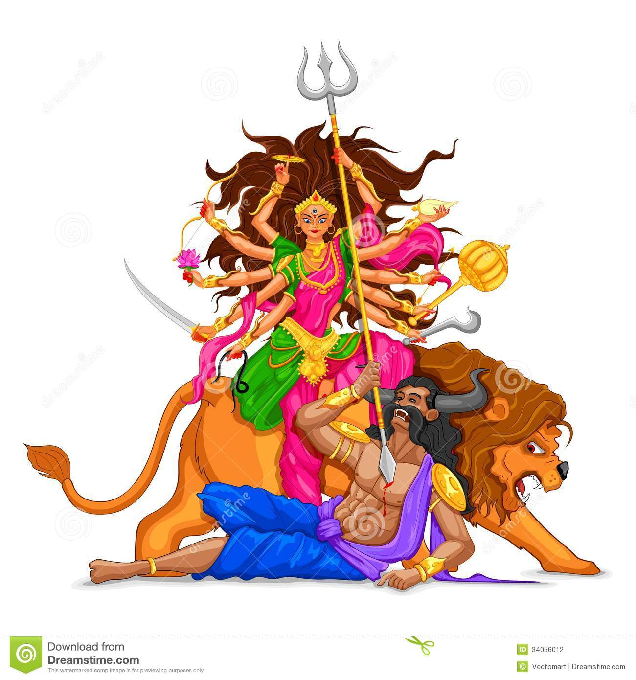 Durga Puja 3d Wallpaper Happy Dussehra With Goddess Durga Stock Photography