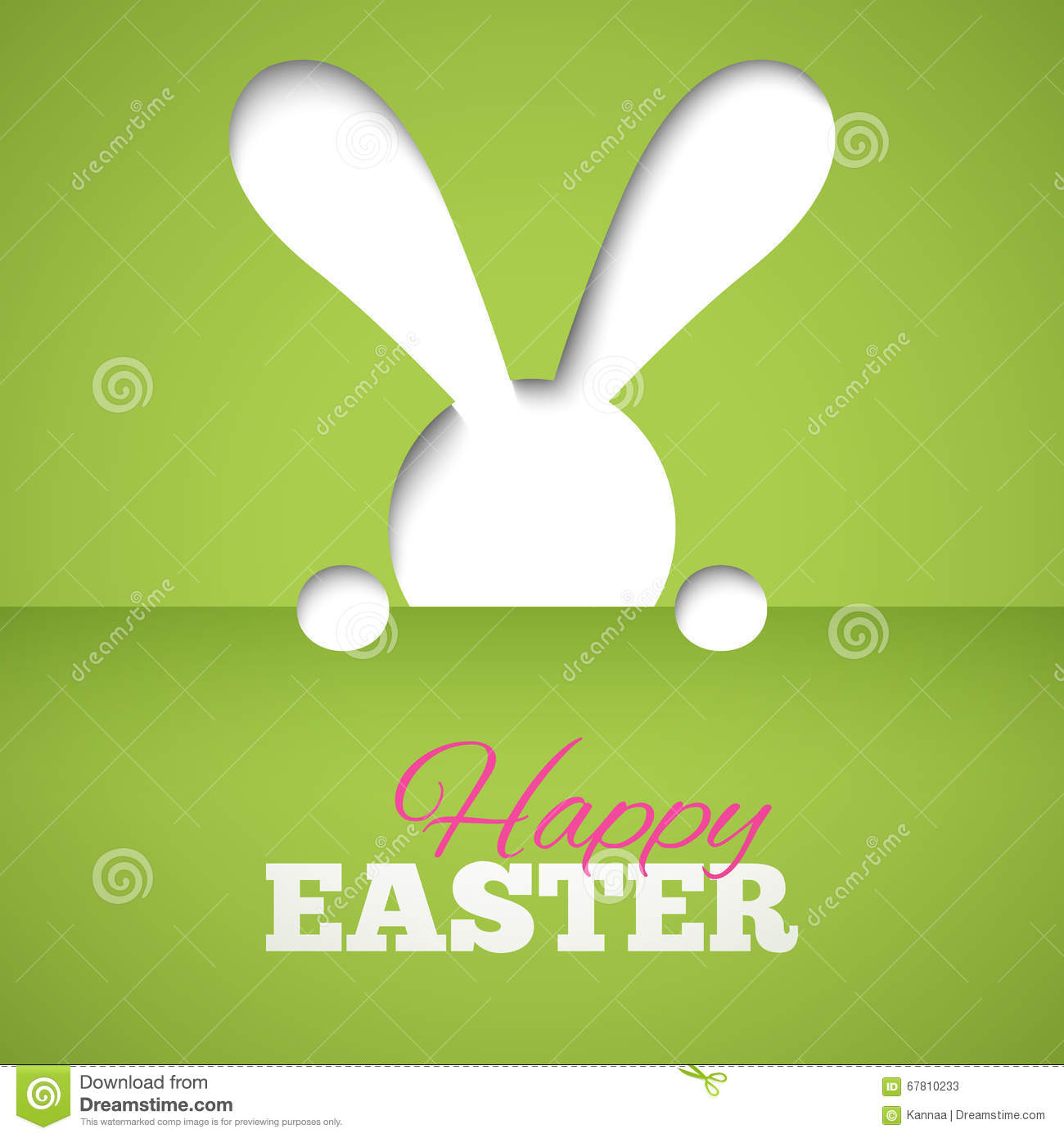 Green Animal Print Wallpaper Greeting Card With Happy Easter Rabbit And Egg Funny