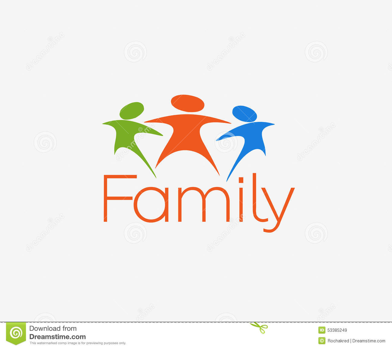 Cute Child Couple Wallpaper Hd Happy Family Logo Stock Vector Image 53385249