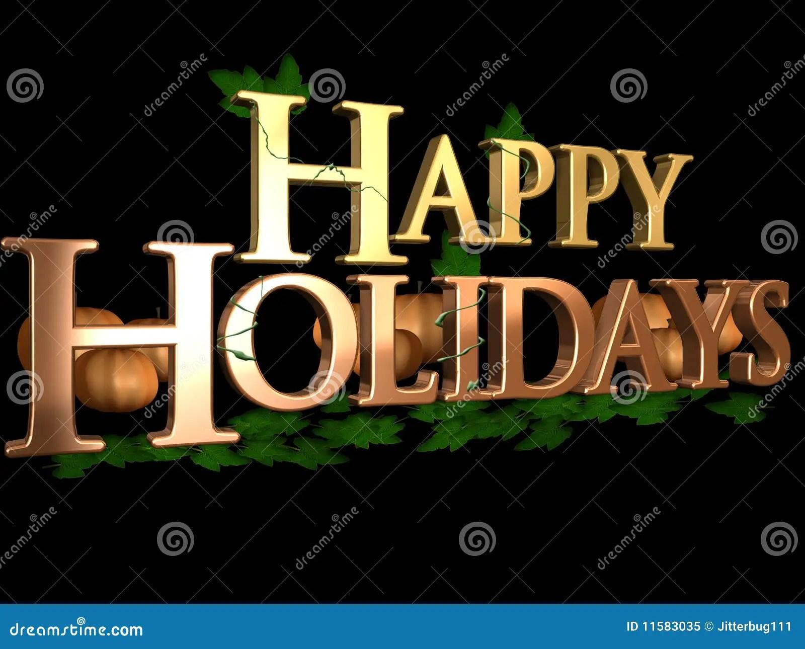 Happy Thanksgiving 3d Wallpaper Happy Holidays Stock Illustration Image Of Orange