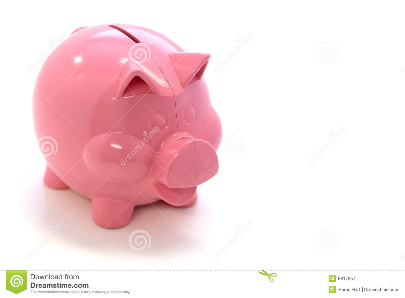Pink Plastic Piggy Banks Happy Pink Piggy Bank Royalty Free Stock Photography