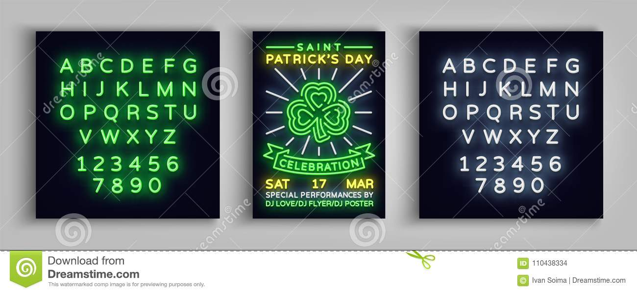 Happy St Patrick`s Day Celebration Invitation Card Design Poster - 's day party invitation