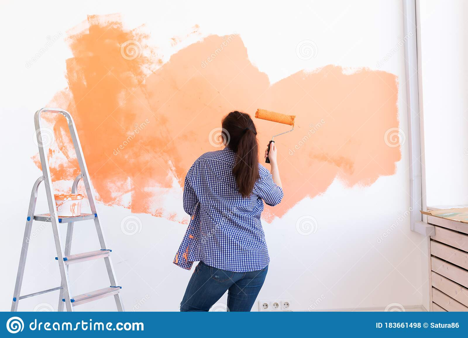 300 Woman Painting Wall Funny Photos - Free & Royalty-Free Stock Photos from Dreamstime