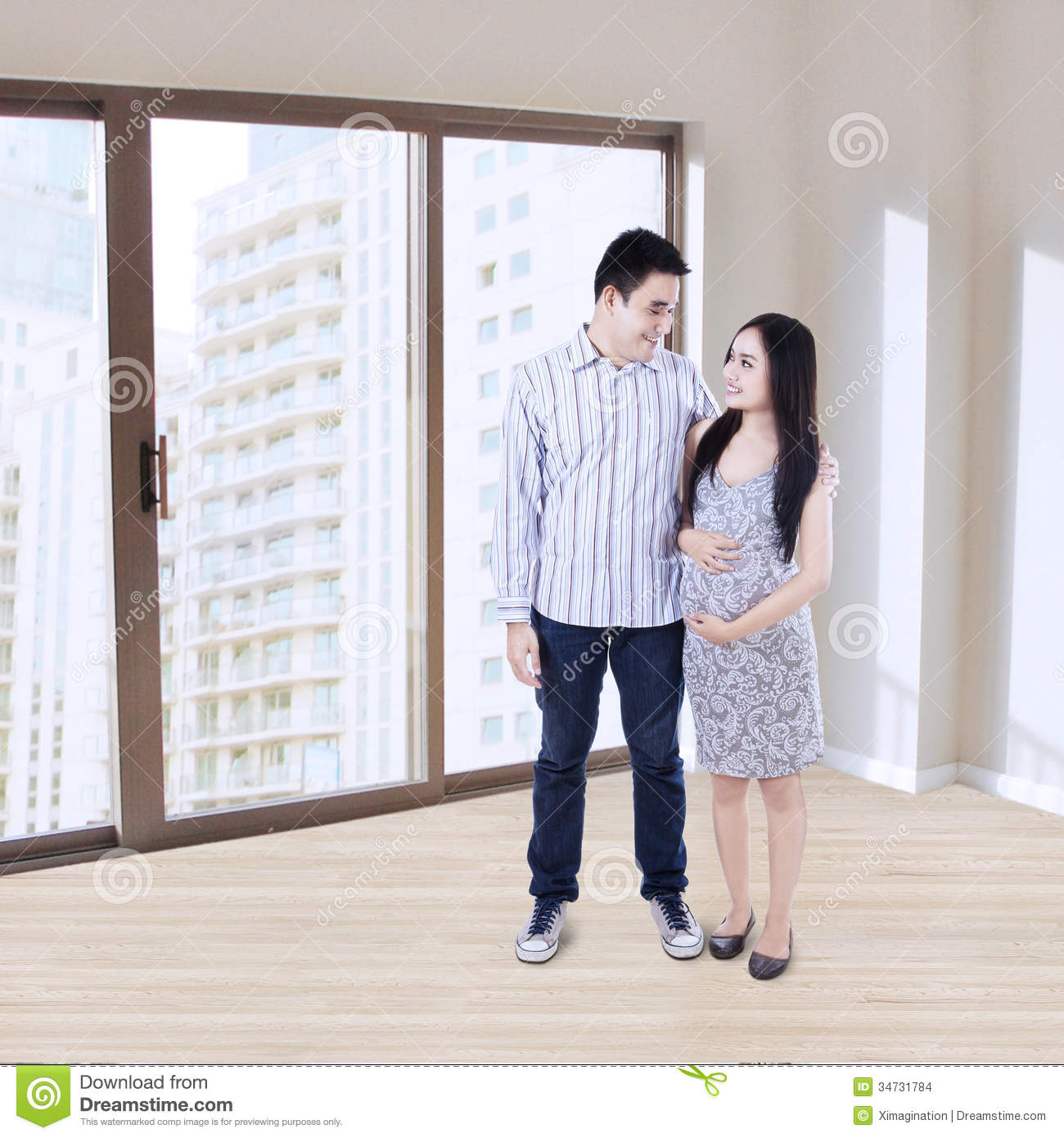 Young Couple Apartment Happy Young Couple At New Apartment Stock Images Image