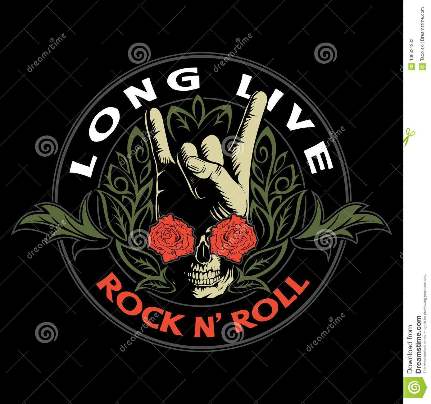 On Heavy Metal Hard Rock Heavy Metal Sign Of The Horns Rock Sign Hand With The