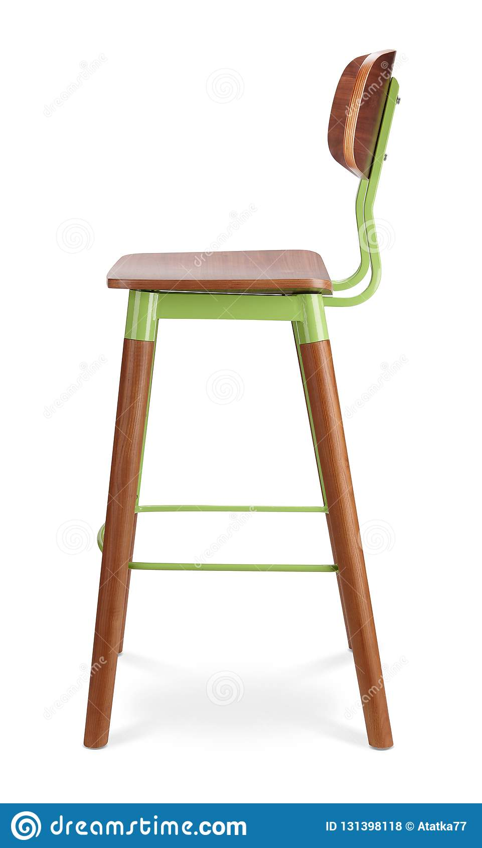 Haut Tabouret De Bar Couleur Verte Chaise Bois Plastique