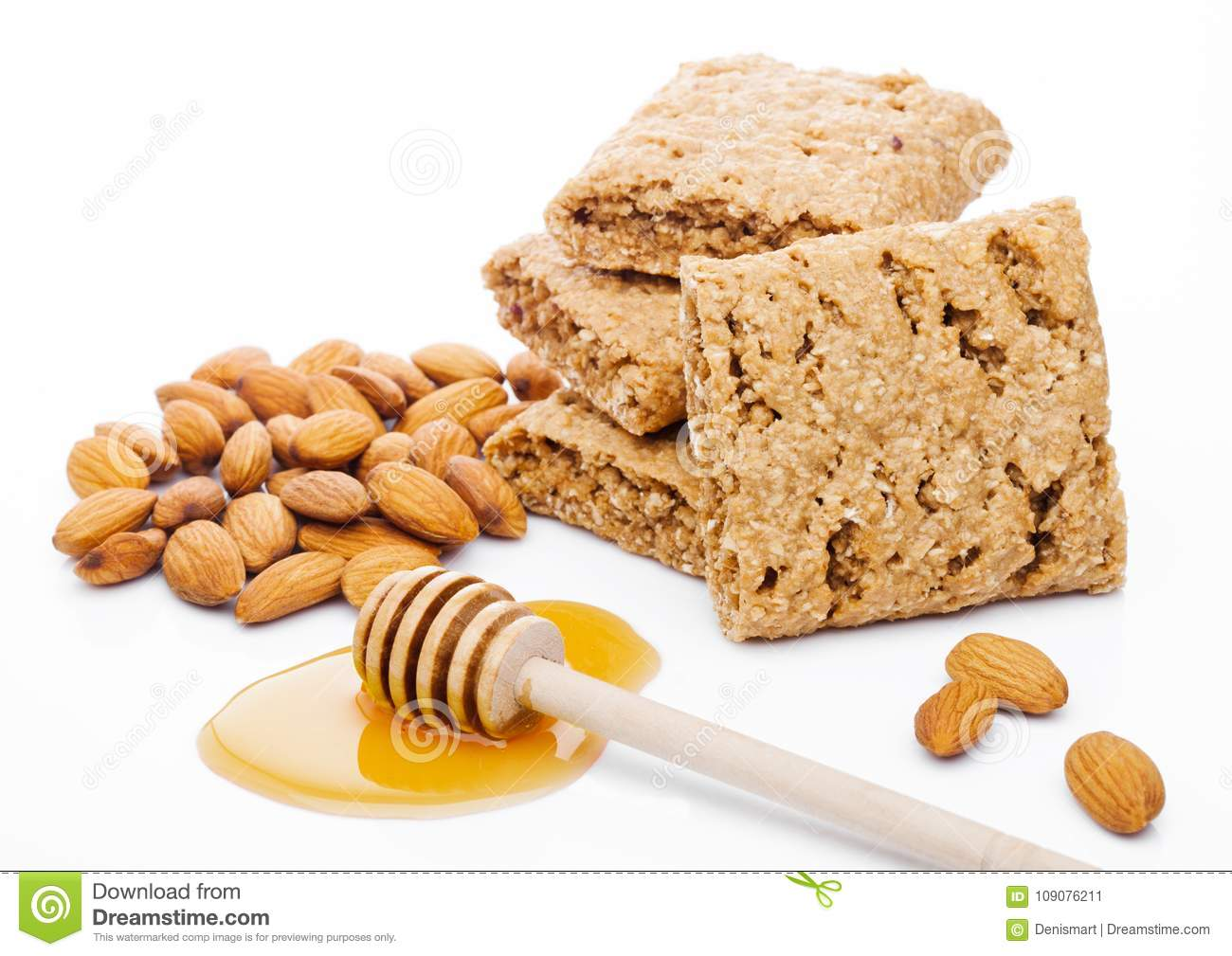 Grain Bio Healthy Bio Breakfast Grain Biscuits With Honey Stock Image