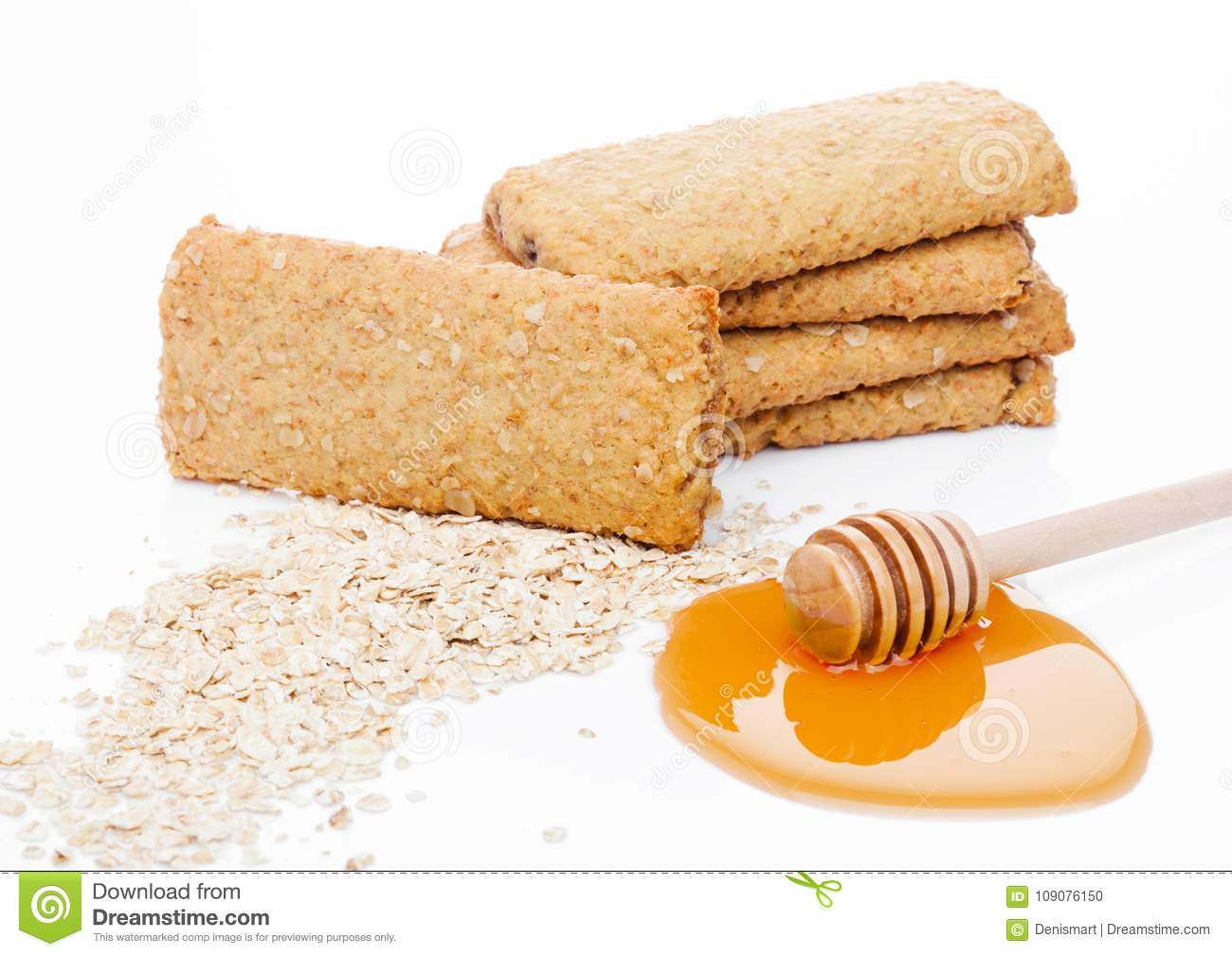 Grain Bio Healthy Bio Breakfast Grain Biscuits With Honey Stock Photo