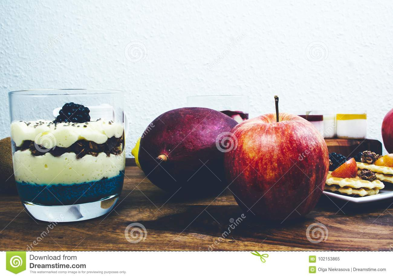 Acai Bowl And Wooden Spoon Stock Image Cartoondealercom