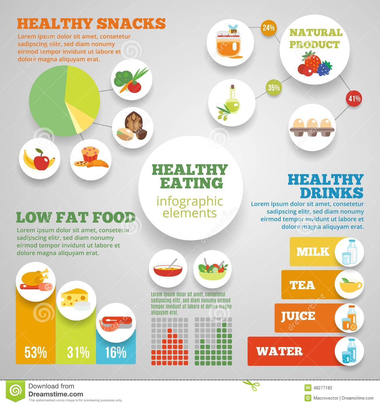 Lose Weight Quotes Wallpaper Healthy Eating Infographic Stock Vector Image 48277182