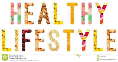 Healthy Lifestyle Word Concept Isolated Stock Illustration ...