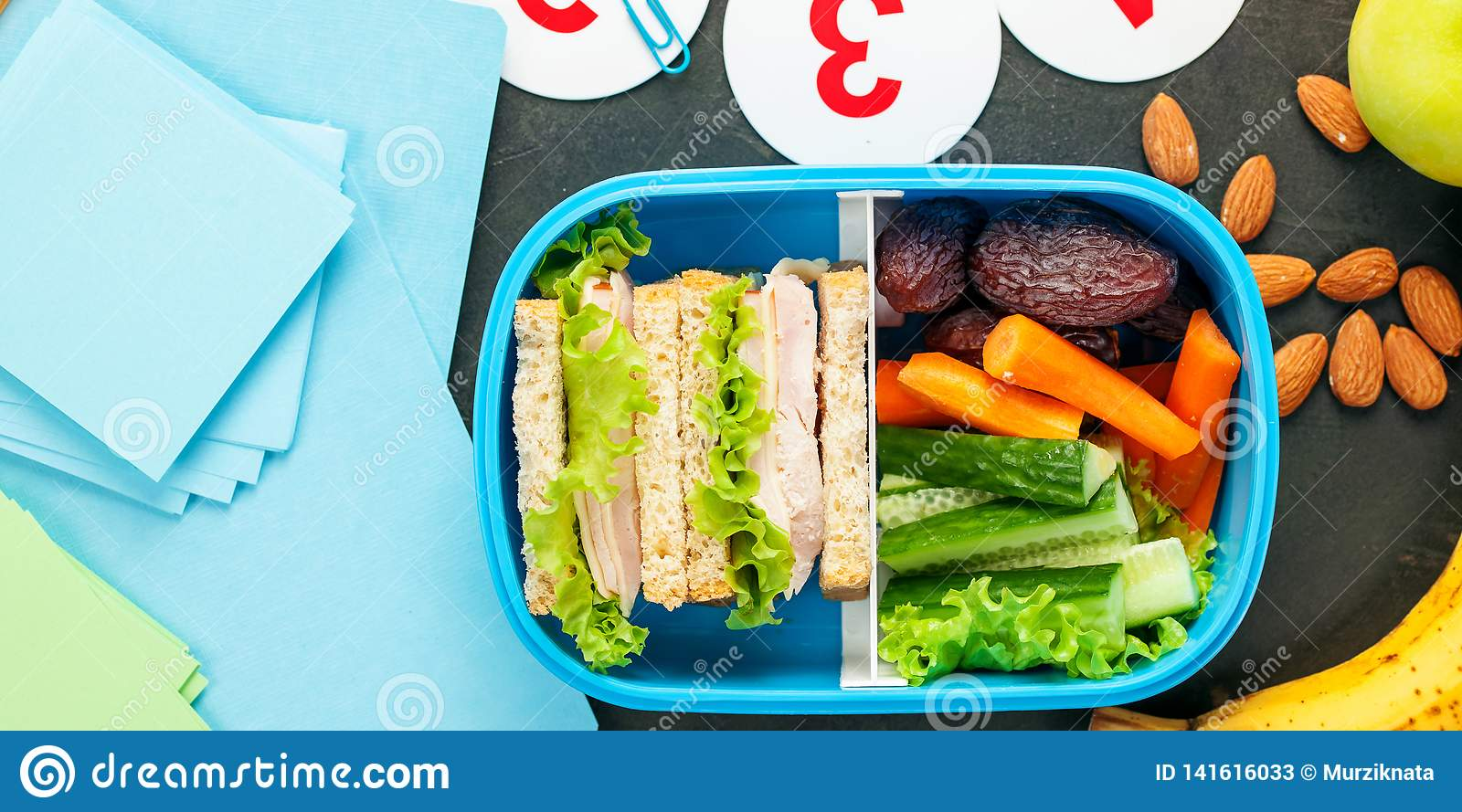 Lunch In A Box Healthy Lunch In A Box Stock Image Image Of Cheese 141616033