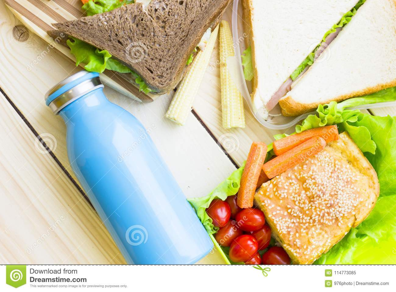 Lunch In A Box Healthy Lunch In A Box Stock Image Image Of Drink Traditional