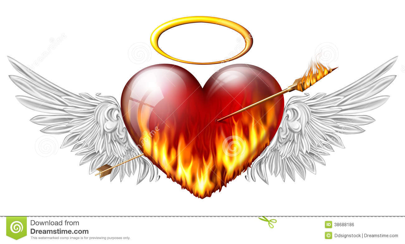 Heart With Angel Wings Stock Illustration Illustration Of